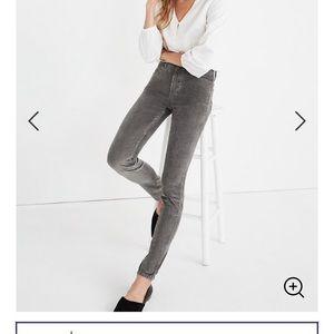 "Madewell 10"" high-rise Skinny Jeans Corduroy sz 24"